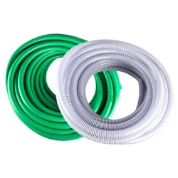 "4"" ID x 4-1/2"" OD Clear Rollerflex™ 1000CL Series Water Suction & Discharge Hose"