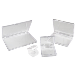 "1""L x 1""W x 3/4""H Clear Hinged Box"