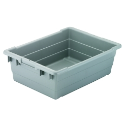 "24"" L x 17"" W x 8"" Hgt. Gray Cross-Stack Akro-Tub"