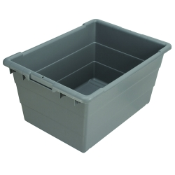 "24""L x 17""W x 12""H Gray Cross-Stack Akro-Tub"