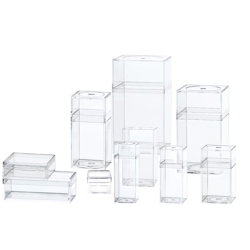 "Clear Plastic Box with Removable Lid 1"" x 1"" x 3/4"""
