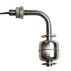 Horizontal 316 Stainless Steel Liquid Level Switch with 3/8-24 thread & Bent Stem