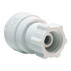 "3/8"" TUbe OD x 7/16-24 UNS Threaded PP Faucet Connector"