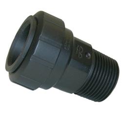 "1"" CTS x 1"" NPT Black UV PEX Male Connector"