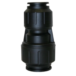 "1"" CTS x 3/4"" CTS Black UV PEX Reducer Coupler"
