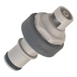 "1/8"" ID In-Line Hose Barb Polypropylene Non-Spill Coupling Insert (Body Sold Separately)"