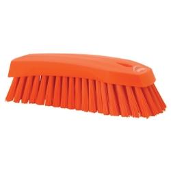 Orange Scrub Brush w/Stiff Bristle