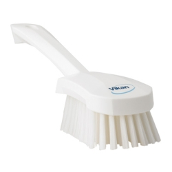 White Short Handled Stiff Hand Brush