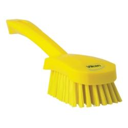 Vikan® Yellow Short Handled Stiff Hand Brush