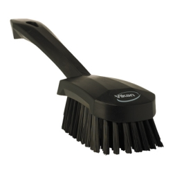 Black Short Handled Stiff Hand Brush