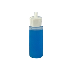 2 oz. Cylinder Bottle with White Flip-Top Cap