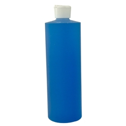 16 oz. Cylinder Bottle with White Flip-Top Cap
