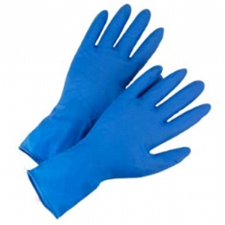 Large High Risk Blue Powder Free Latex Gloves