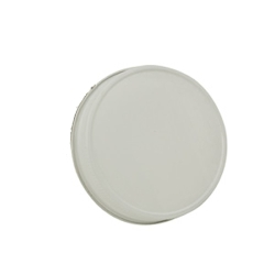 70G-450 White Metal Cap with Plastisol Liner & No Button