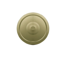 70G-450 Gold Metal Cap with Plastisol Liner & Button