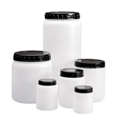 120mL Round HDPE Jars with Screw Caps