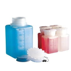 250mL Kartell Graduated Rectangular HDPE Bottle with Cap