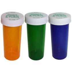 16 Dram Green Vial with Push & Turn CRC Cap