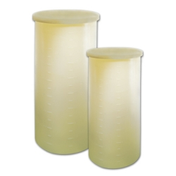 "7-1/2 Gallon Cylindrical Tank with Cover - 12"" x 18"""