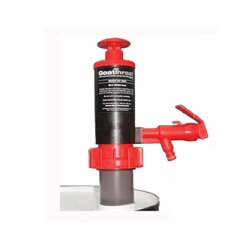 GoatThroat™ Drum Pump With Nitrile Seal, Red with Standoff