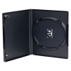 Case of 100 Single Amaray® Dark Gray Premium DVD Cases w/Ying Yang Hubs {Good Value}