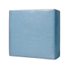 """12"""" x 13.5"""" Blue Smooth Wipers - 50 Wipes/1/4 Fold Poly Bag"""