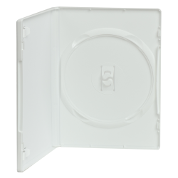 Single Amaray® White Premium DVD Case w/Ying Yang Hub