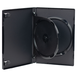 Double Amaray® Dark Gray Premium DVD Case w/Ying Yang Hub
