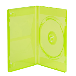 Single Amaray® Transparent Green Premium DVD Case w/Y Hub