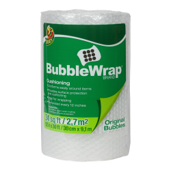 "3/16"" x 12"" x 30' Clear Bubble Wrap®"