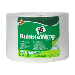 "3/16"" x 12"" x 175' Clear Bubble Wrap®"