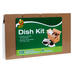 Duck® Dish Kit with 4 Corrugate Dividers & 18 Foam Pouches