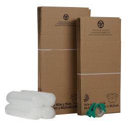 Duck® Moving Kit with Bubble Wrap®