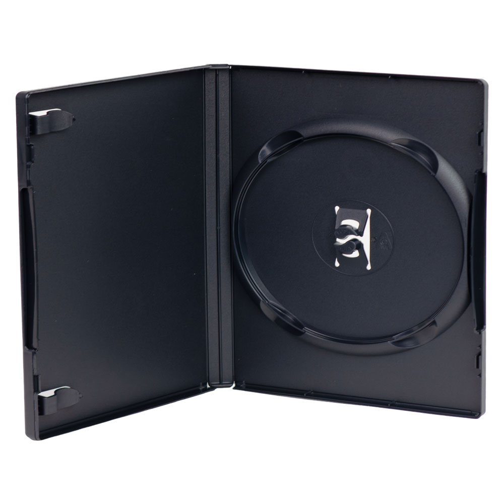 Case of 500 Single Amaray® Dark Gray Premium DVD Cases w/Ying Yang Hubs {Better Value}