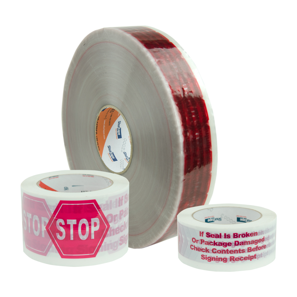 "100m x 72mm Roll of ""Stop"" Hot Melt Tape"