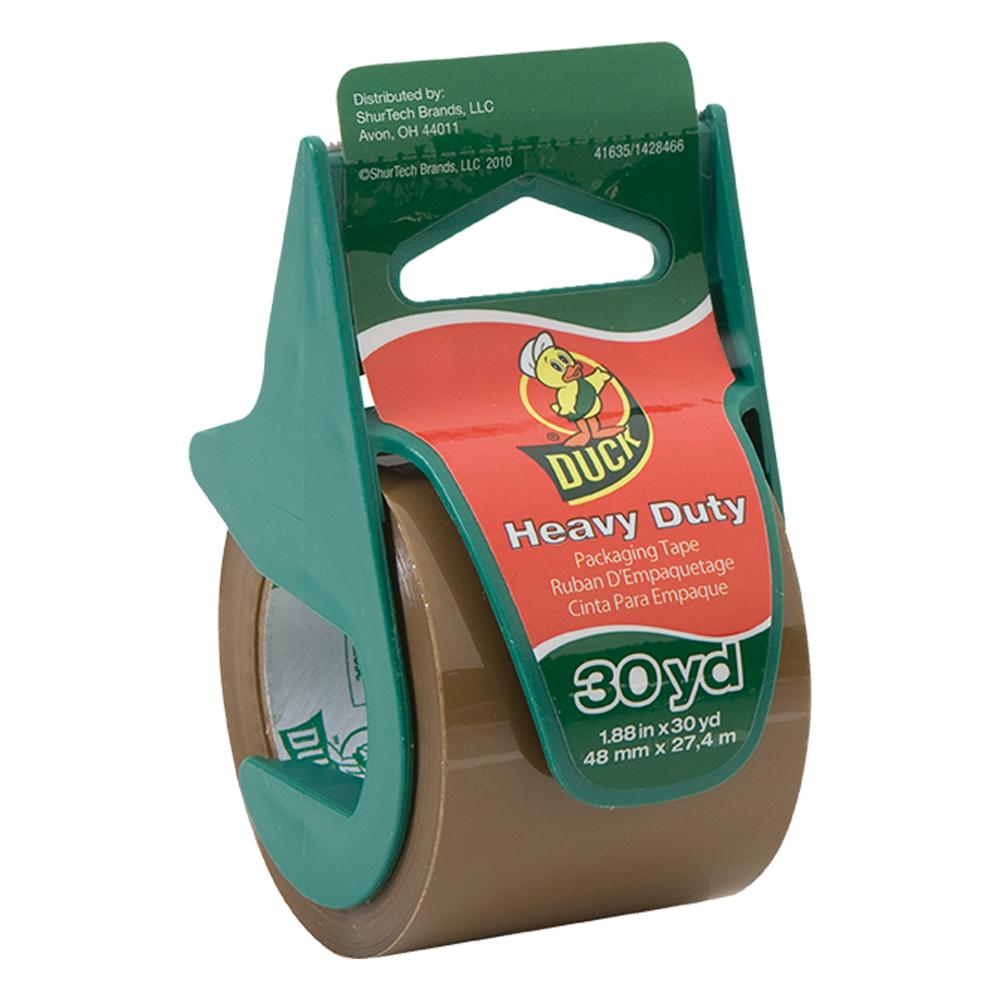 """1.88"""" x 30 Yards Heavy Duty Tan Tape & Dispenser"""