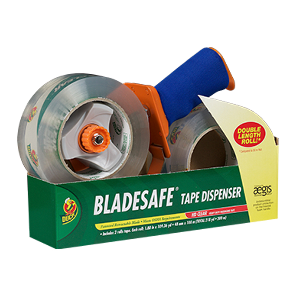BladeSafe® Tape Gun with 2 Rolls of 109 Yards HP 260™ Packing Tape