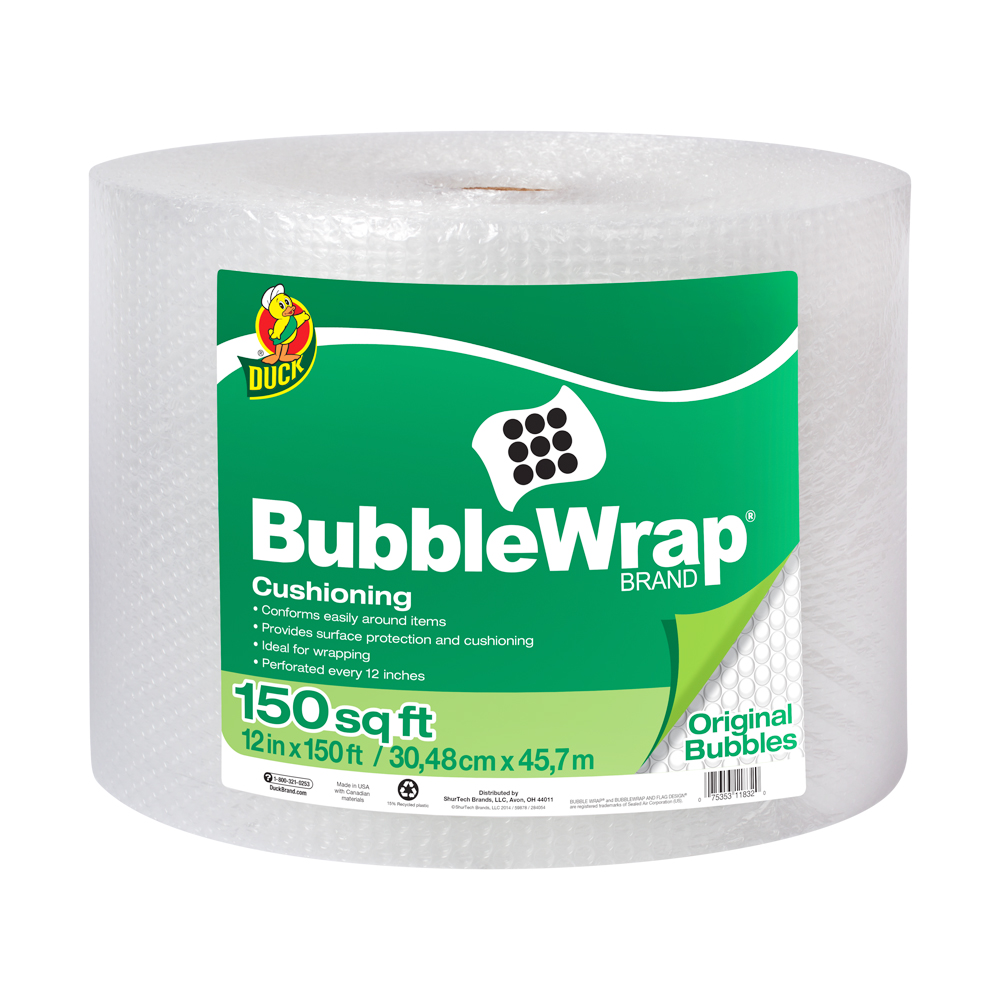 "3/16"" x 12"" x 150' Clear Bubble Wrap®"
