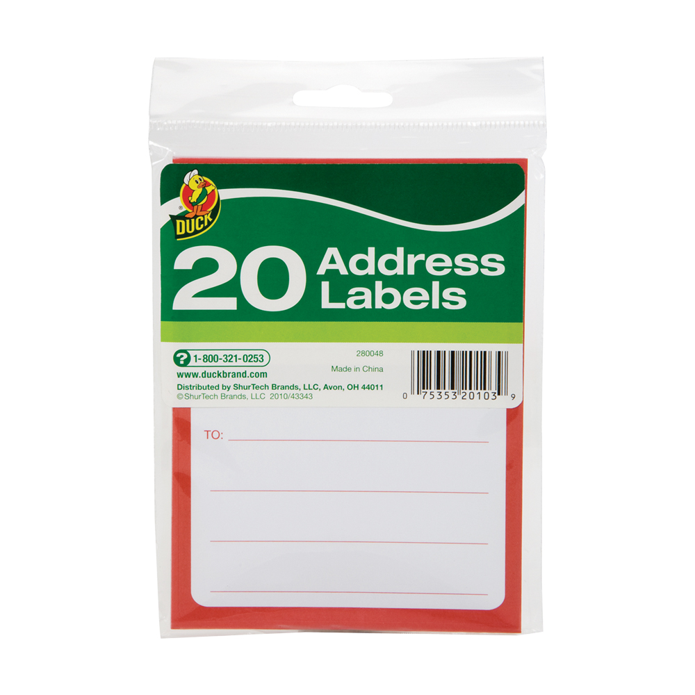"3.5"" x 4.5"" To/From Address Labels- Pack of 20"