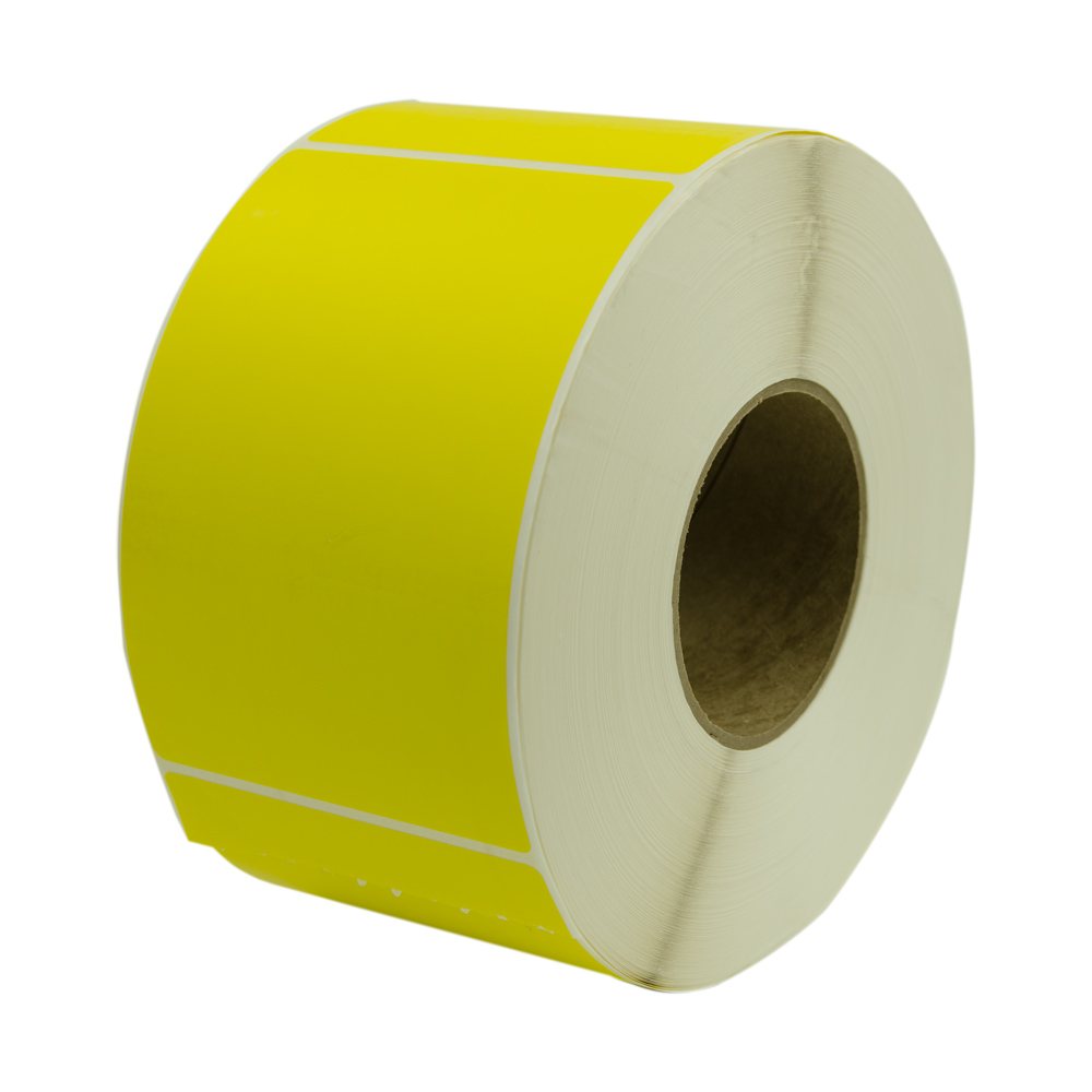 "4"" W x 6"" L Yellow Thermal Transfer Rolls - Case of 4 Rolls"