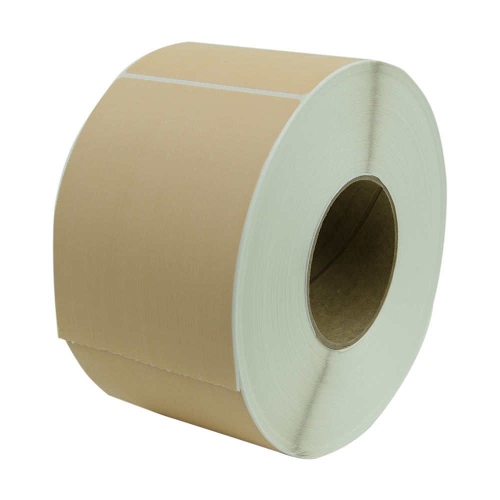 "4"" W x 6"" L Brown Thermal Transfer Rolls- Case of 4 Rolls"
