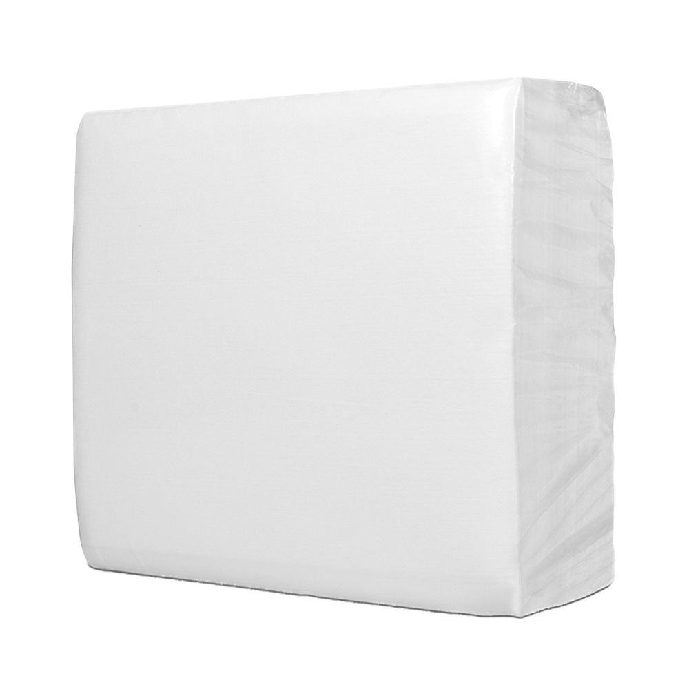 "12"" x 13.5"" White Smooth Wipers - 50 Wipes/1/4 Fold Poly Bag"