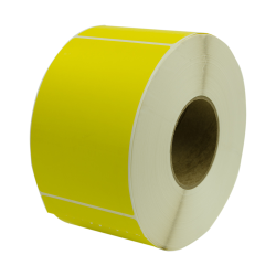 "4"" W x 6"" L Yellow Thermal Transfer Rolls- Case of 4 Rolls"