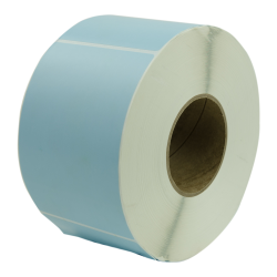 "4"" W x 6"" L Blue Thermal Transfer Rolls - Case of 4 Rolls"