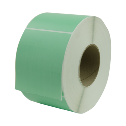 "4"" W x 6"" L Light Green Thermal Transfer Rolls - Case of 4 Rolls"