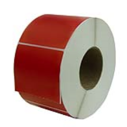 "4"" W x 6"" L Red Thermal Transfer Rolls - Case of 4 Rolls"