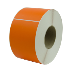 "4"" W x 6"" L Orange Thermal Transfer Rolls - Case of 4 Rolls"