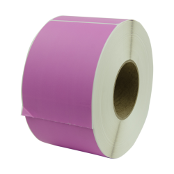 "4"" W x 6"" L Purple Thermal Transfer Rolls - Case of 4 Rolls"