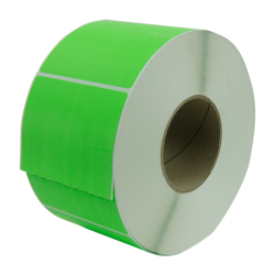 "4"" W x 6"" L  Bright Green Thermal Transfer Rolls - Case of 4 Rolls"