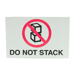 """4"""" x 6"""" Do Not Stack Labels- 500 per Roll"""